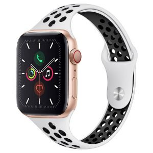 white silicone apple watch bands