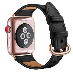 black leather apple watch band wholesale