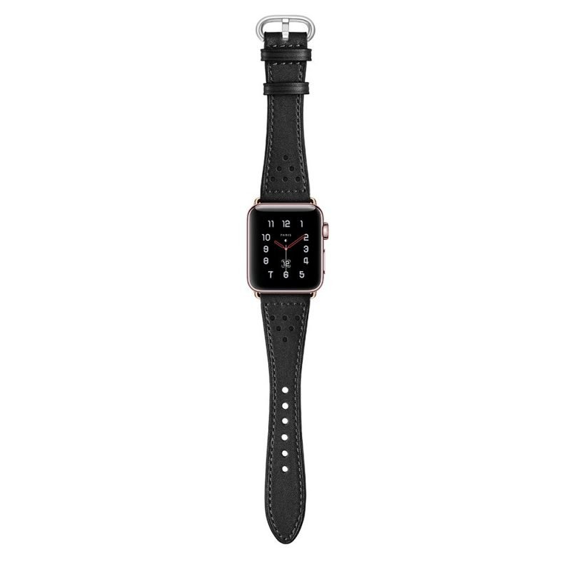 black leather apple watch bands