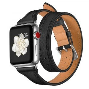 black leather apple watch band - wholesale supplier