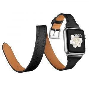 black leather apple watch bands wholesale supplier - lovingcase