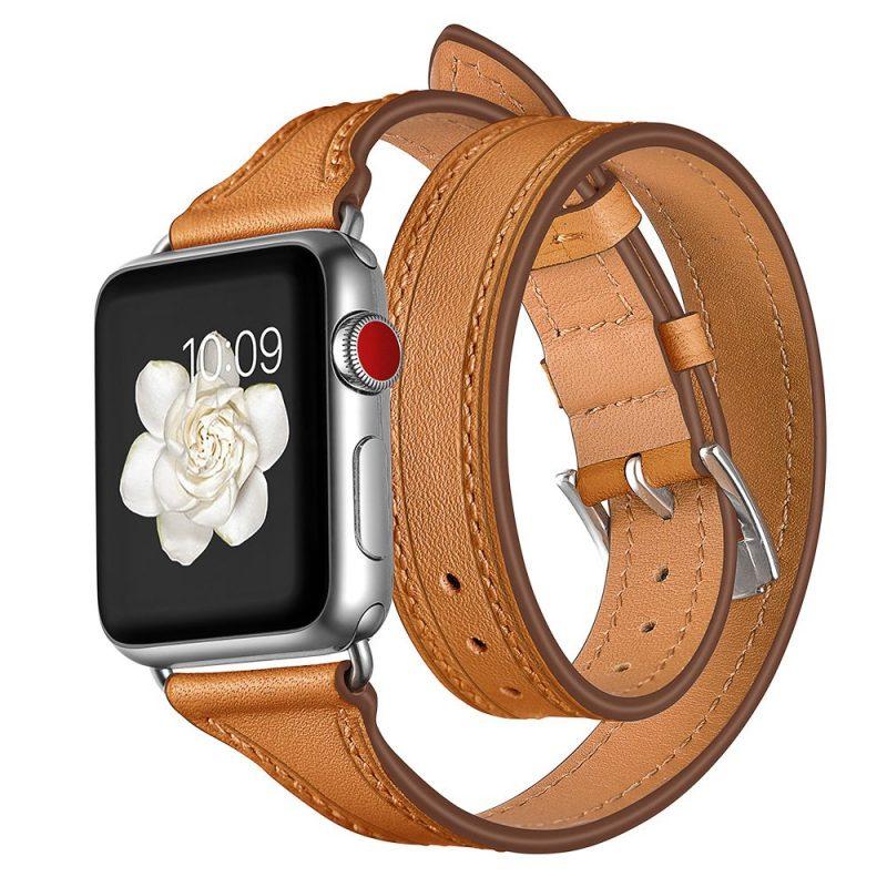 camel leather apple watch band - lovingcase wholesale
