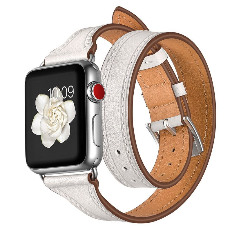 white leather apple watch bands supplier