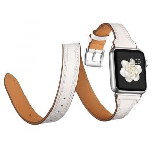 white leather apple watch bands wholesale vendor