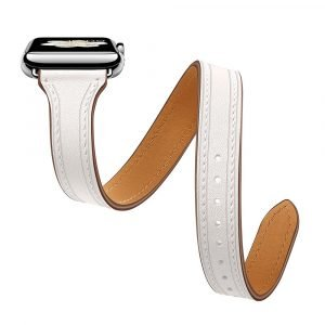 white leather apple watch bands 2020