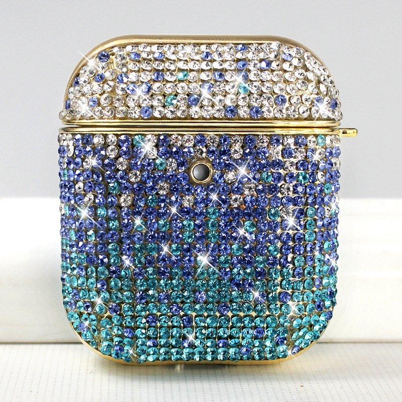 bling airpods case - blue-lovingcase