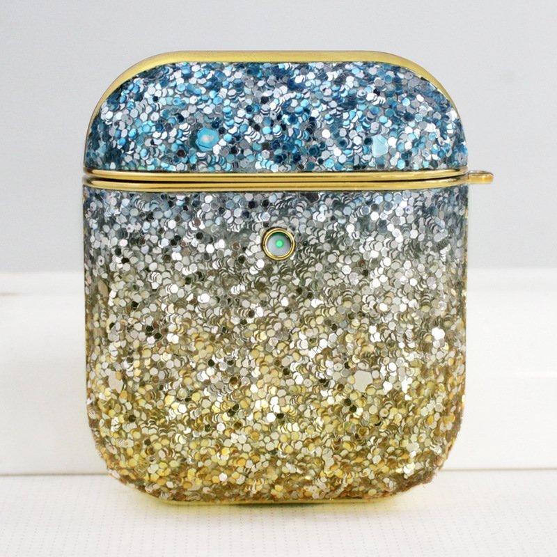 airpods case glitter blue - lovingcase