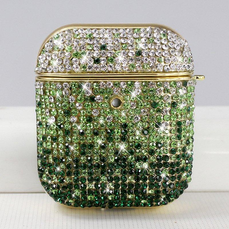 glitter airpods case supplier - green
