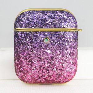 airpods case - glitter purple