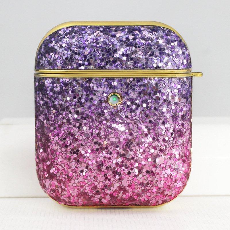 glitter airpods case purple-lovingcase
