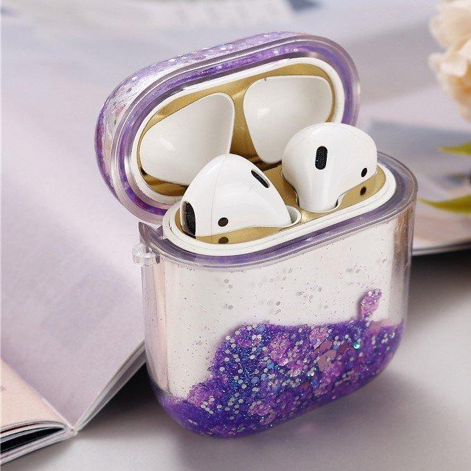 glitter purple airpods case