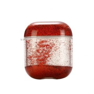 glitter airpods case - red