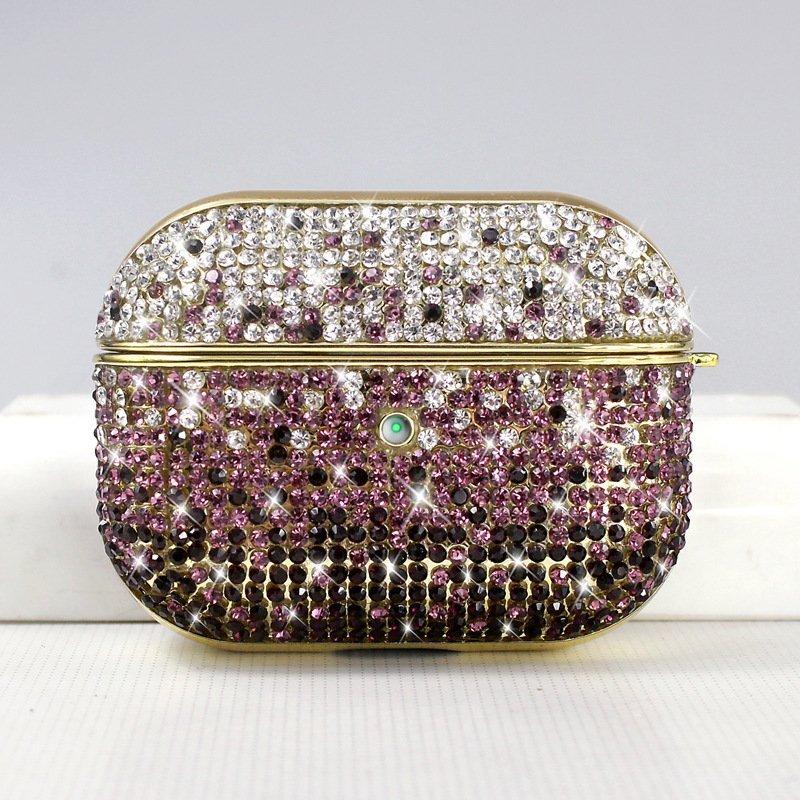 airpods pro case - glitter purple - lovingcase