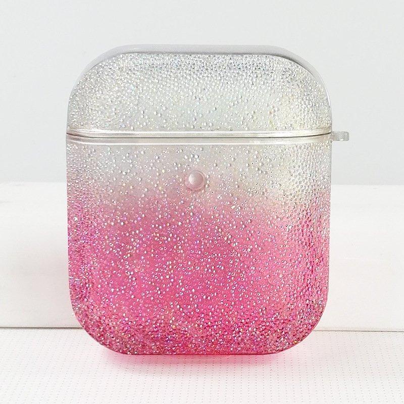 airpods case - pink glitter -lovingcase