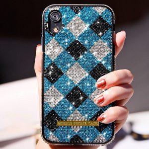 check pattern glitter iphone case wholesale
