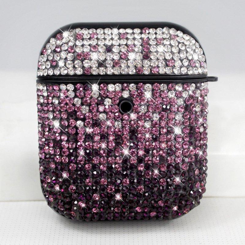 glitter airpods case - purple- wholesale -lovingcase