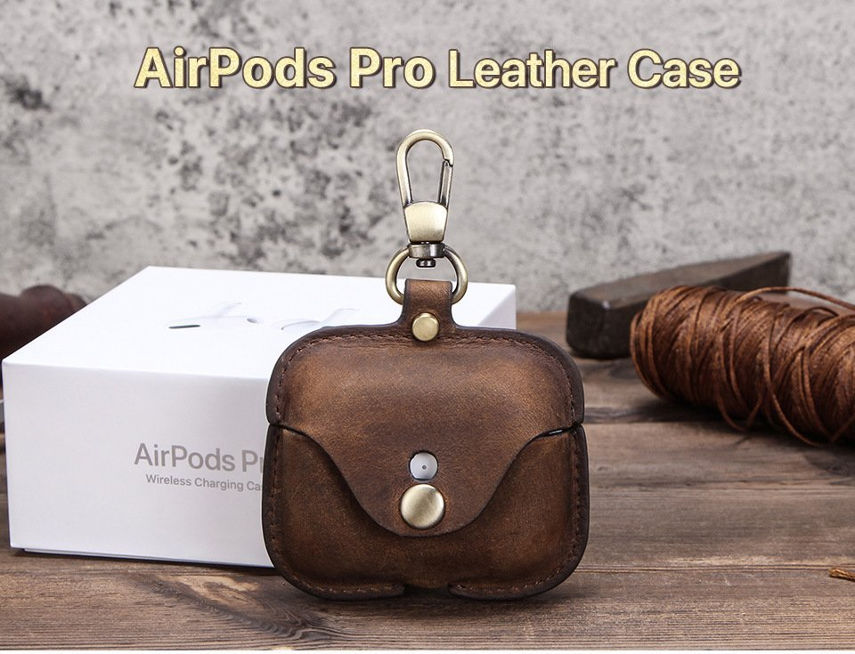 leather airpods pro case- premium- lovingcase