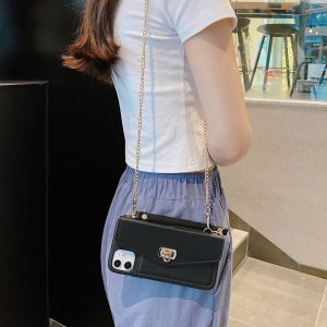 black leather iphone case purse / wallet