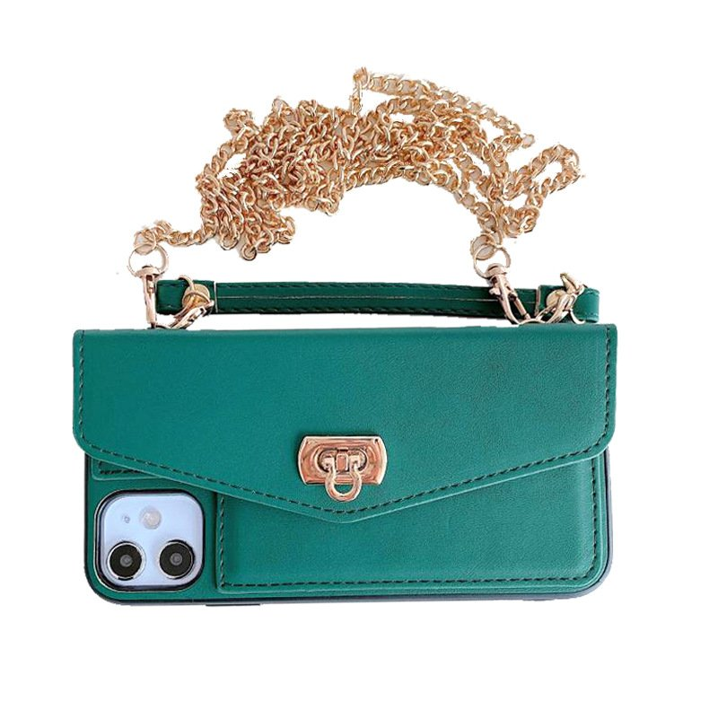 green leather iphone case purse / wallet, lovingcase wholesaler