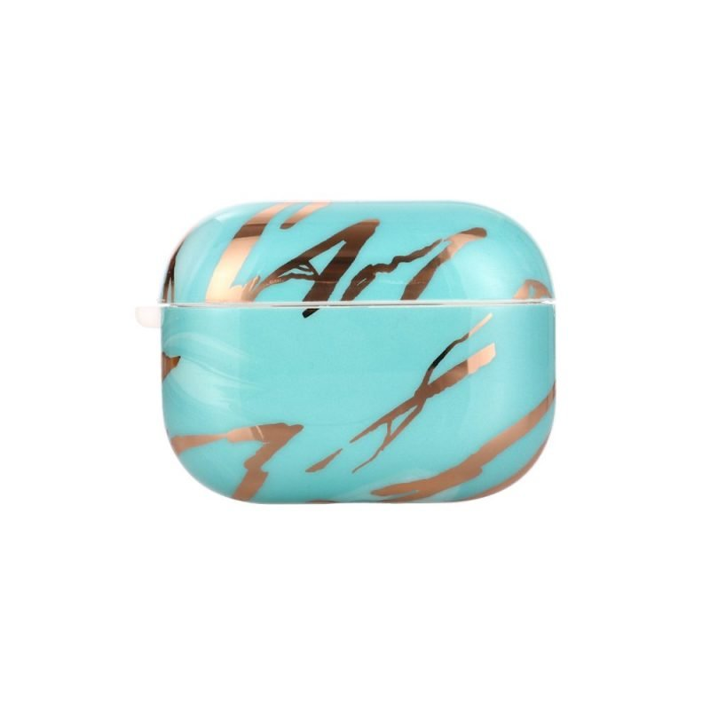 airpods pro case - marble- blue