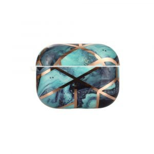 marble airpods pro cover - blue - lovingcase