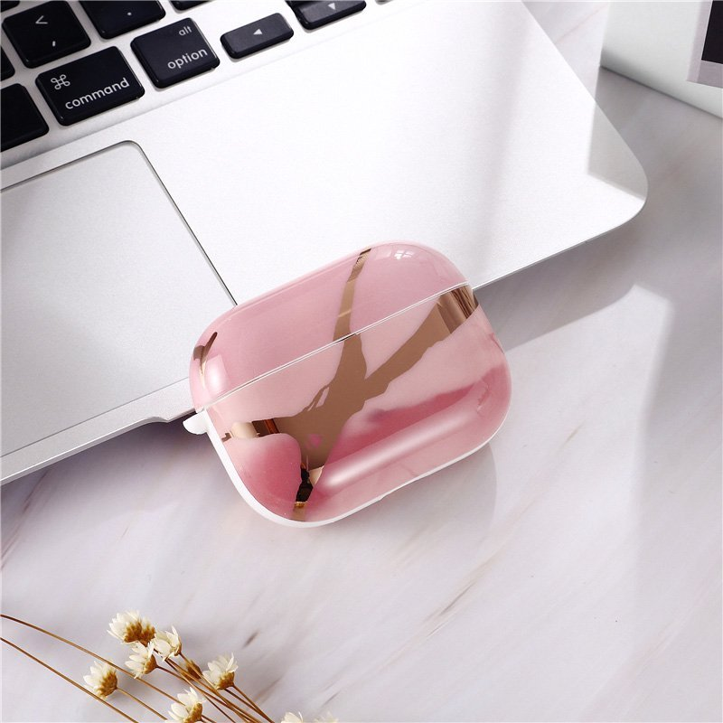 rose gold marble airpods pro case - lovingcase wholesale