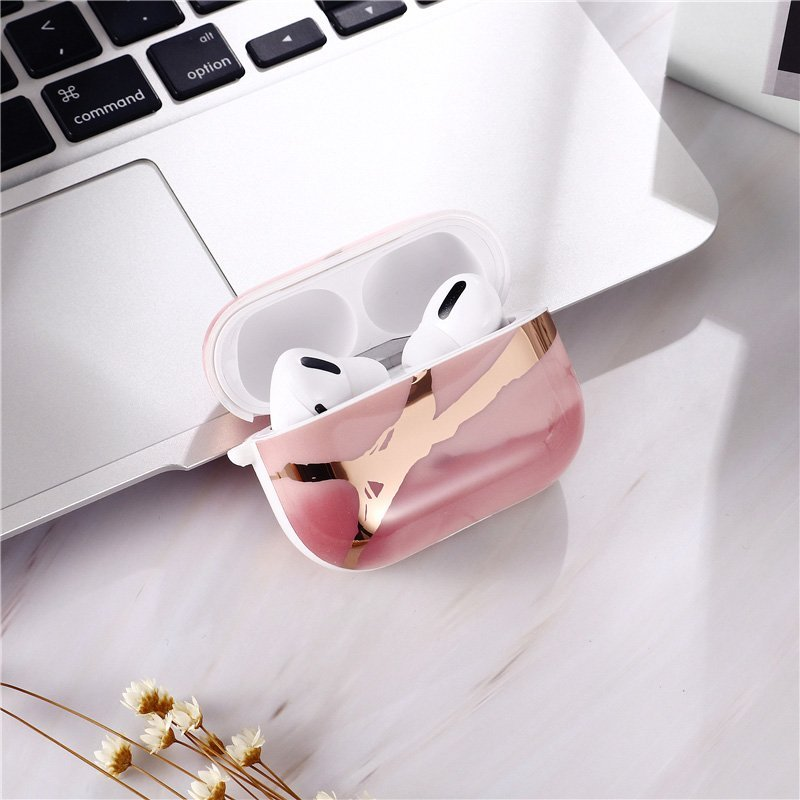 rose gold marble airpods pro cover - lovingcase wholesale