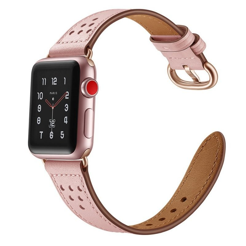pink leather apple watch band - wholesale
