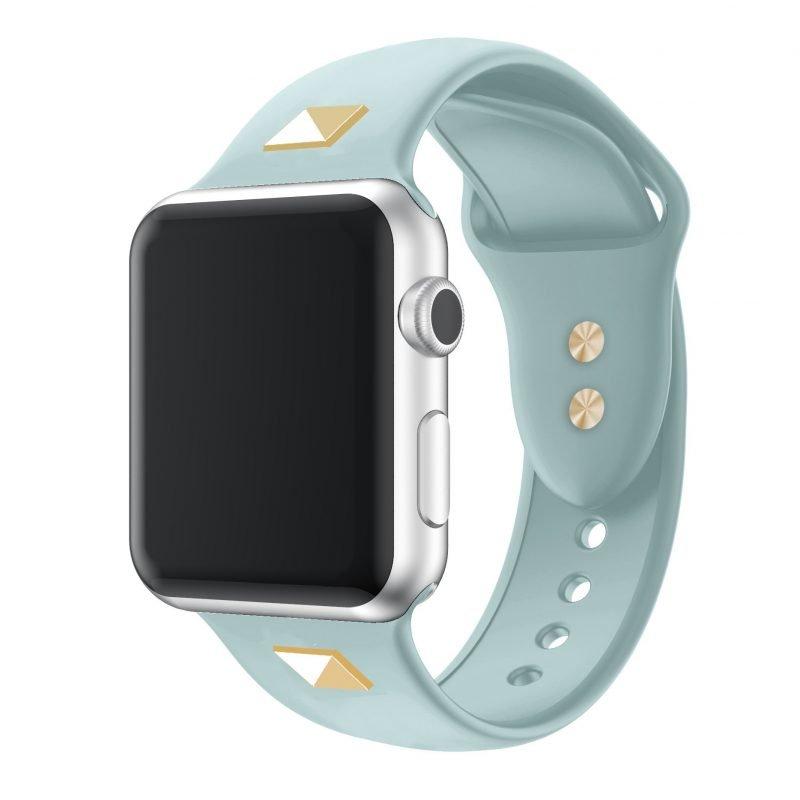 blue punk style studded apple watch band -lovingcase wholesale
