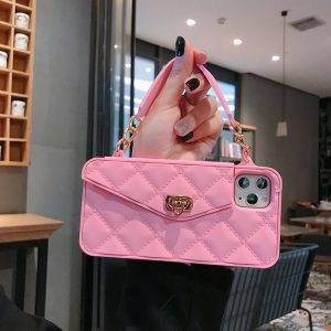 pink silicone iphone case wallet