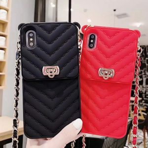 silicone iphone wallet case in black, red, lovingcase wholesaler