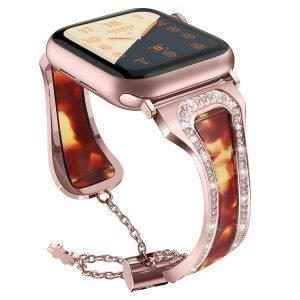 tortoiseshell apple watch band rosegold - lovingcase