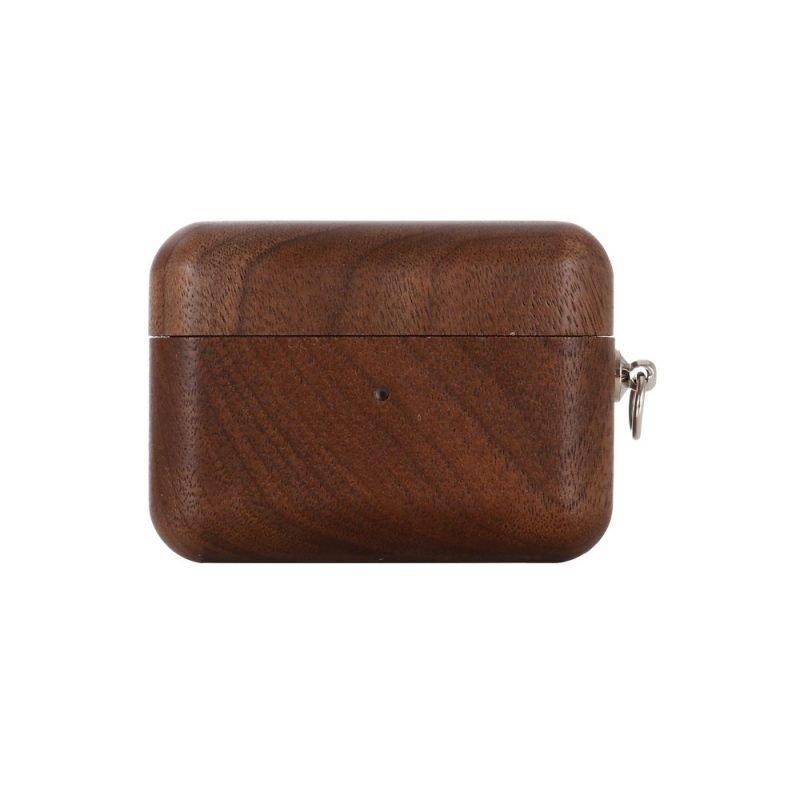 real wood airpods pro case- lovingcase wholesale-black walnut