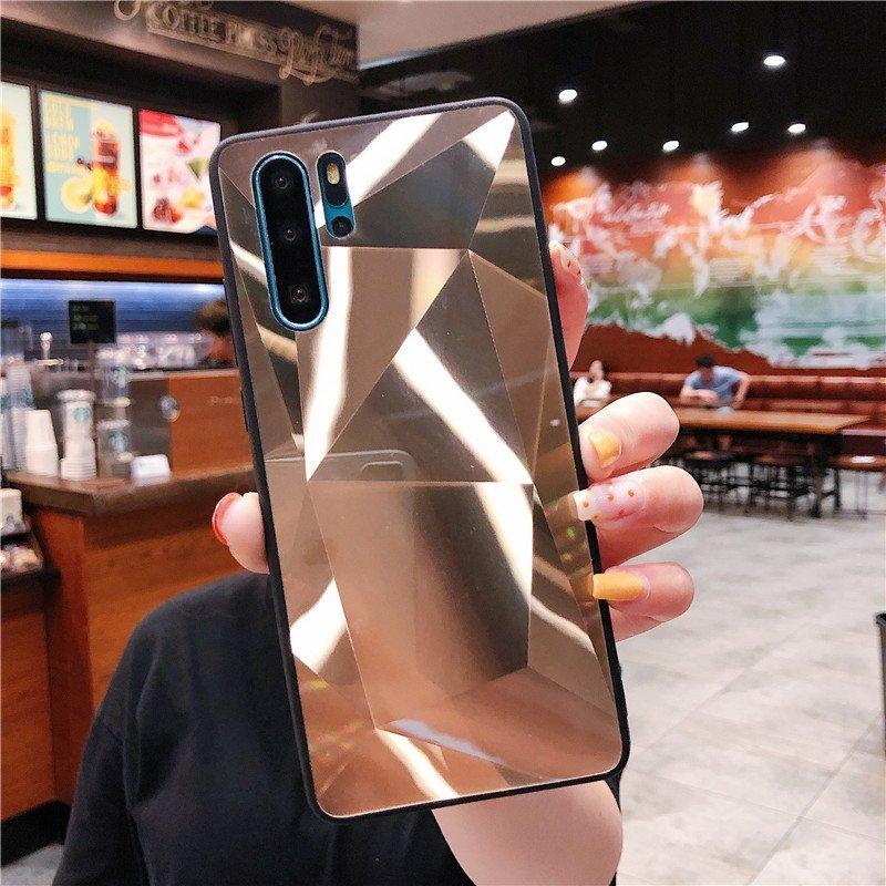 fancy mirror acrylic phonoe case for samsung and huawei, lovingcase wholesale