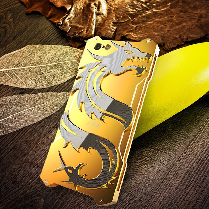 heavy duty metal iphone cases wholesale - royal gold- lovingcase