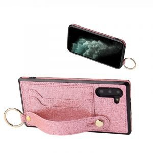 samsung pink phone case with grip band - wholesale - lovingcase