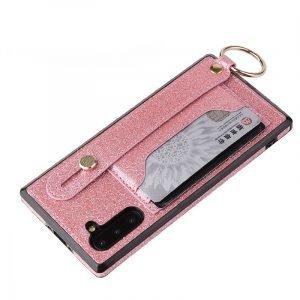 Samsung glitter wallet case - pink -