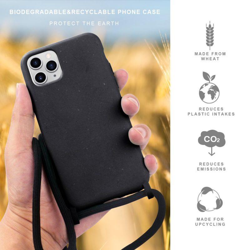 black compostable iphone cases wholesale-lovingcase