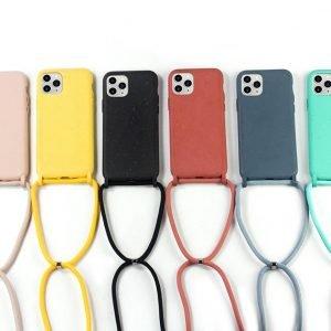 100% compostable iphone cases - crossbody lanyard- lovingcase wholesale / custom