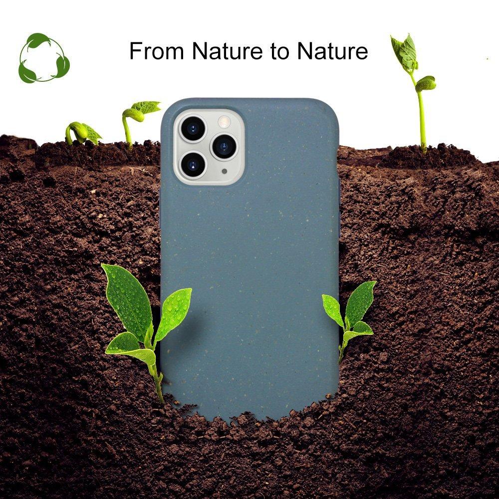 biodegradable iphone 11 case, blue, lovingcase wholesale uk