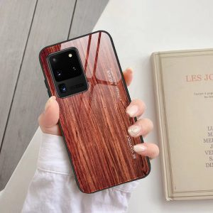 2020 wood pattern phone case, samsung - tempered glass
