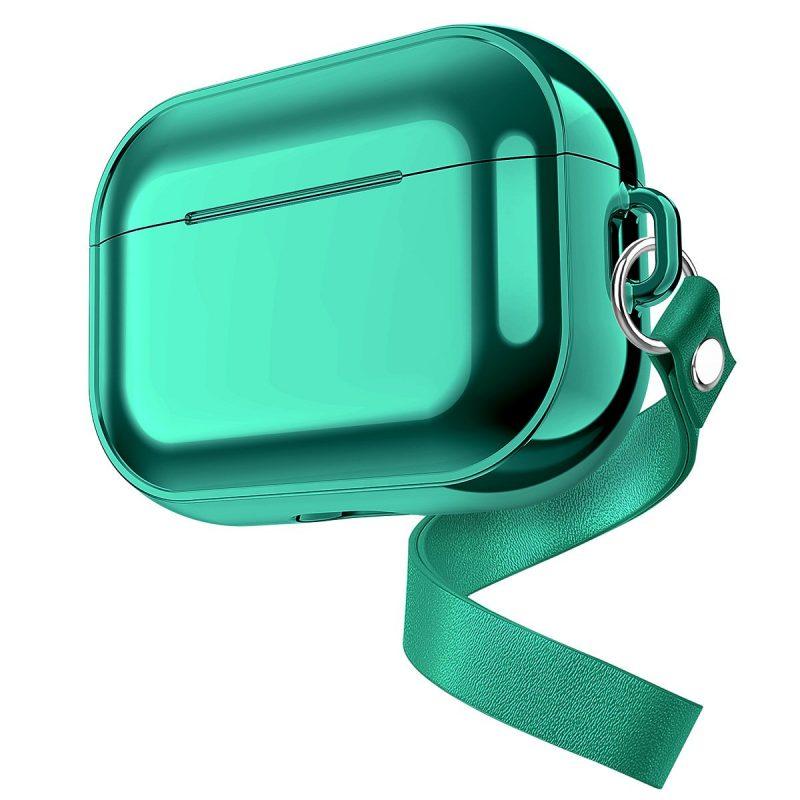 electroplating metal look airpods pro case wholesale, green - lovingcase