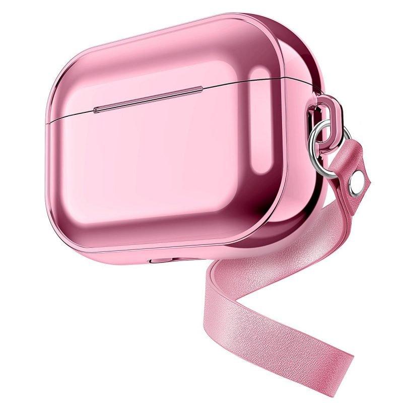 pink metal airpods pro protective case, bulk sale, lovingcase