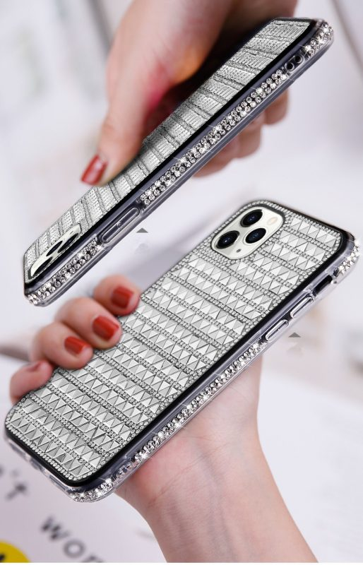 silver glass iphone case - wholesaler