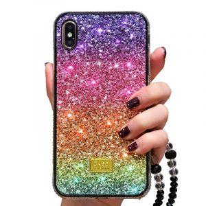glittering rainbow iphone case