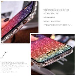 wholesale supply glittering rainbow iphone 11 case