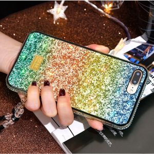 bulk sale glittering rainbow iphone case