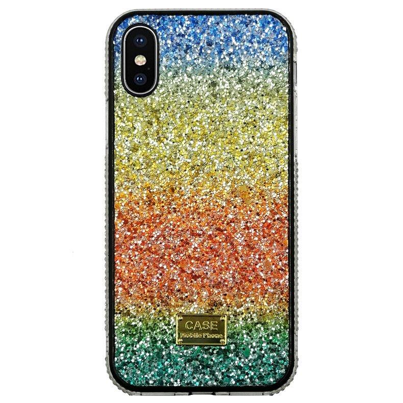 phone case vendor-glittering rainbow iphone case