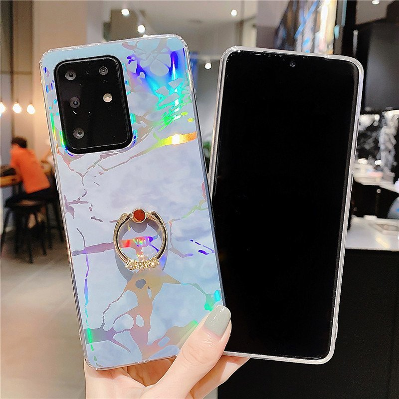 fancy holo phone cases for samsung - ring grip- lovingcase