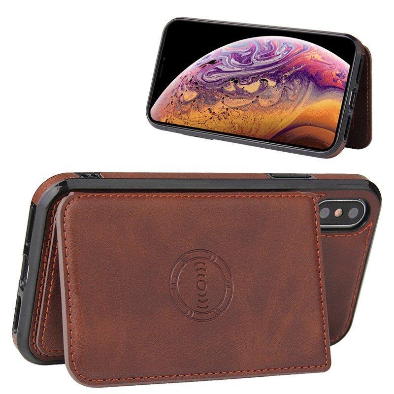 coffee leather wallet iphone case wholesale - lovingcase